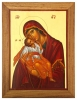 SOLD - Virgin Mary with Christ (Sweet kissing) - Panagia me Chri